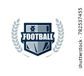 american football logo template.... | Shutterstock .eps vector #782537455