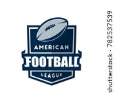 american football logo template.... | Shutterstock .eps vector #782537539