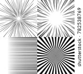 set of radial rays twisted... | Shutterstock .eps vector #782538769
