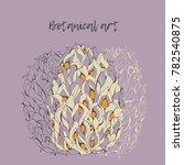 magnolia fruit. botanical art. | Shutterstock .eps vector #782540875