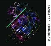 abstract vector background dot...   Shutterstock .eps vector #782548069