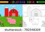 cartoon pig coloring book | Shutterstock .eps vector #782548309
