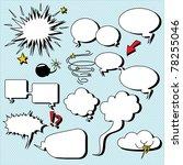 comic speech bubbles.... | Shutterstock .eps vector #78255046