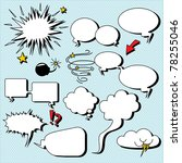 comic speech bubbles....