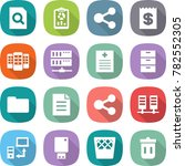 flat vector icon set   search... | Shutterstock .eps vector #782552305