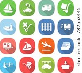 flat vector icon set   boat... | Shutterstock .eps vector #782553445