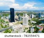 danube city aerial panoramic... | Shutterstock . vector #782554471