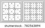 sudoku game with the answer.... | Shutterstock . vector #782563894