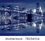 brooklyn bridge and manhattan... | Shutterstock . vector #78256516