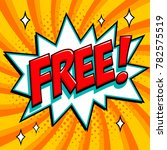 free   comic book style word on ... | Shutterstock . vector #782575519
