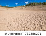 landscape of dry earth soil and ... | Shutterstock . vector #782586271