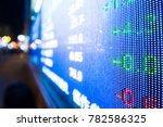 data of stock market on digital ... | Shutterstock . vector #782586325