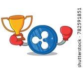 boxing winner ripple coin... | Shutterstock .eps vector #782591851