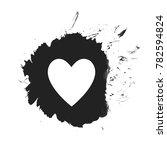 isolated black color splash... | Shutterstock . vector #782594824