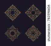 mandala texture background... | Shutterstock .eps vector #782598604
