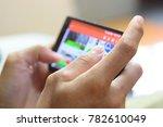 businessman is using smartphone ... | Shutterstock . vector #782610049