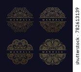 mandala texture background...   Shutterstock .eps vector #782613139