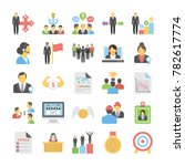 business flat colored icons 11 | Shutterstock .eps vector #782617774