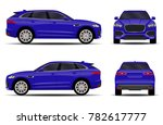 realistic suv car. front view ... | Shutterstock .eps vector #782617777