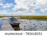 Small photo of A parking airboat at the Everglades
