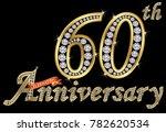 celebrating 60th anniversary... | Shutterstock .eps vector #782620534