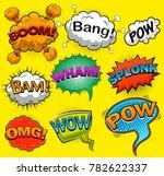 comic speech bubbles. sound...   Shutterstock .eps vector #782622337