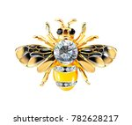 bee jewelry with stones isolate ... | Shutterstock .eps vector #782628217