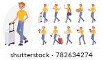 cartoon character design male... | Shutterstock .eps vector #782634274