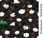seamless vector illustration... | Shutterstock .eps vector #782636269