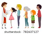 illustration of a priest and... | Shutterstock .eps vector #782637127