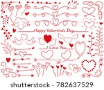 a set of assorted graphic... | Shutterstock .eps vector #782637529