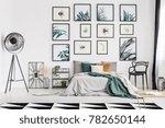 spacious botanic themed bedroom ...   Shutterstock . vector #782650144