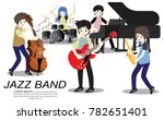 musicians and musical... | Shutterstock .eps vector #782651401