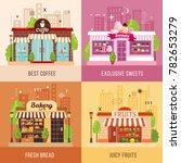stores facades 2x2 design... | Shutterstock .eps vector #782653279