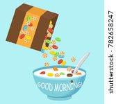 vector illustration. cereal...   Shutterstock .eps vector #782658247