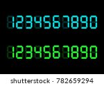 calculator digital numbers.... | Shutterstock .eps vector #782659294