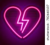Broken Heart Neon Sign....