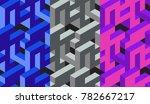Abstract 3d Geometric Seamless...