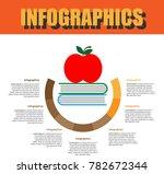 step process timeline... | Shutterstock .eps vector #782672344