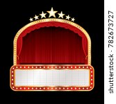 vector stage with red curtain ... | Shutterstock .eps vector #782673727