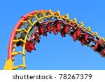 rollercoaster ride  against... | Shutterstock . vector #78267379