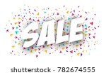 sale banner template design.... | Shutterstock .eps vector #782674555