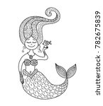 cute mermaid and fish for your... | Shutterstock .eps vector #782675839