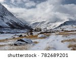 winter snow highland mountain... | Shutterstock . vector #782689201