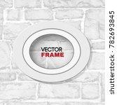 oval white wooden frame mockup... | Shutterstock .eps vector #782693845