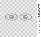 eyes vector icon eps 10. two... | Shutterstock .eps vector #782696371