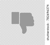 thumb down vector icon eps 10.... | Shutterstock .eps vector #782696374