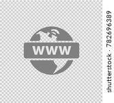 earth with www text. vector... | Shutterstock .eps vector #782696389