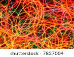Christmas lights streaks abstract background. - stock photo