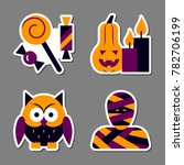 Halloween Icon Sticker Set....